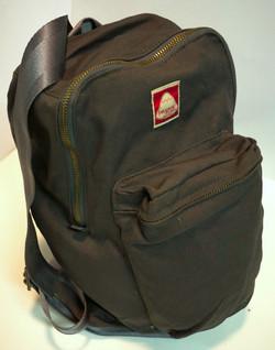 Grey cloth backpack