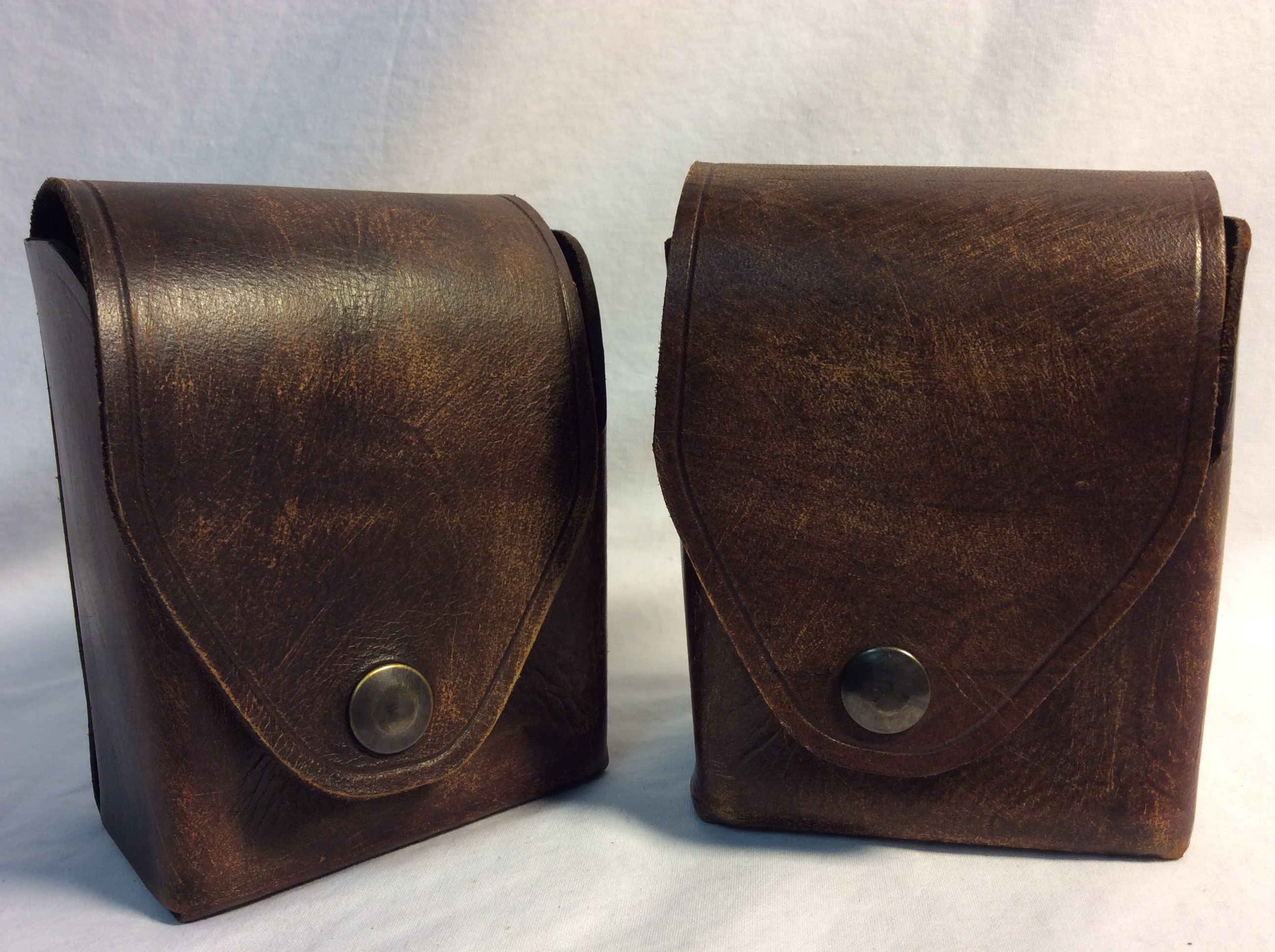 Vintage belt leather pouch
