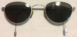 Thin silver metal frames, curved end