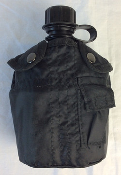 Black canteen with black case
