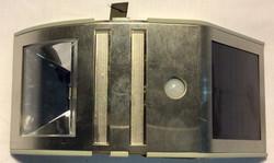 Trapezoidal metal security light