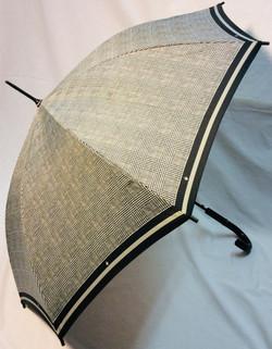 Plaid black and white umbrella