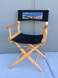 Short wooden film set chair