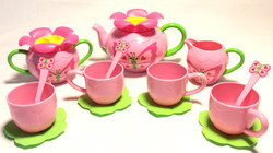 Sunny Patch Pink butterfly tea set