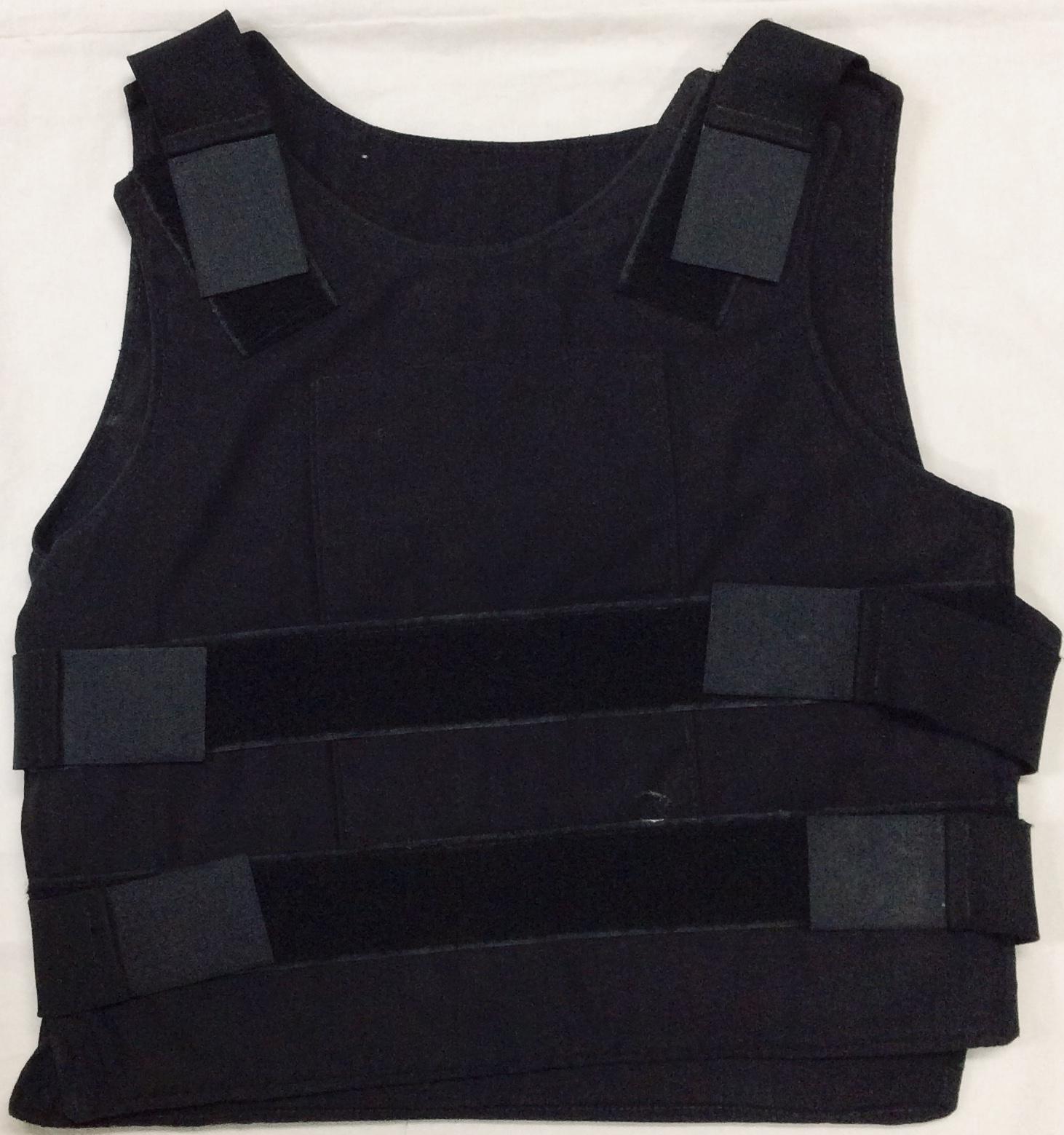 Black kevlar police vest