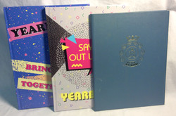 Assorted yearbook style books