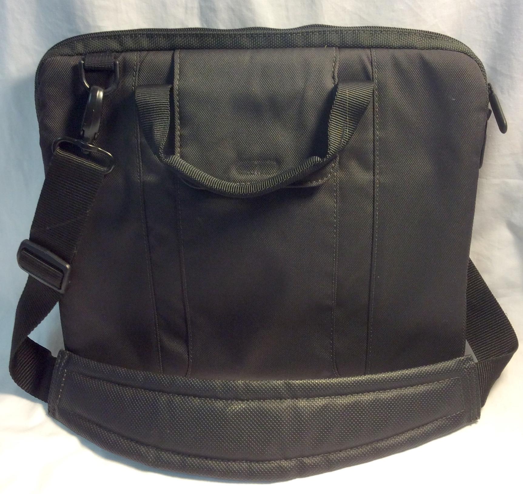 Small black tablet bag