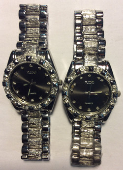 """RIDD """"Bling"""" watch -  round silver"""