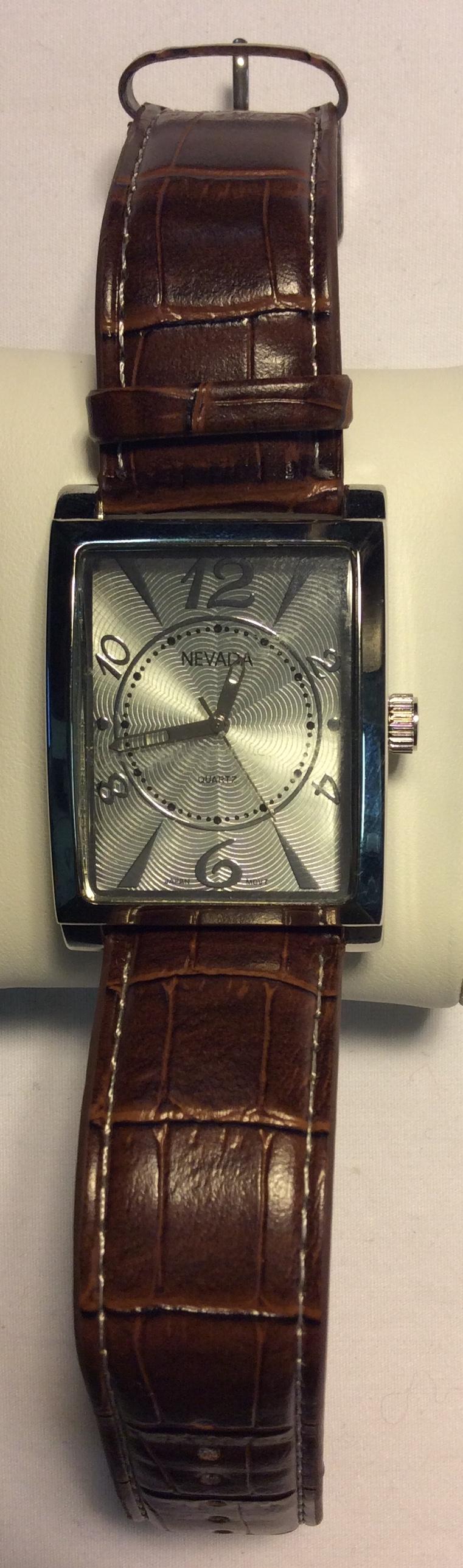 Nevada watch - rectangular silver