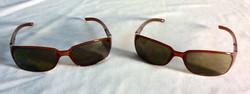 Light brown framed sunglasses