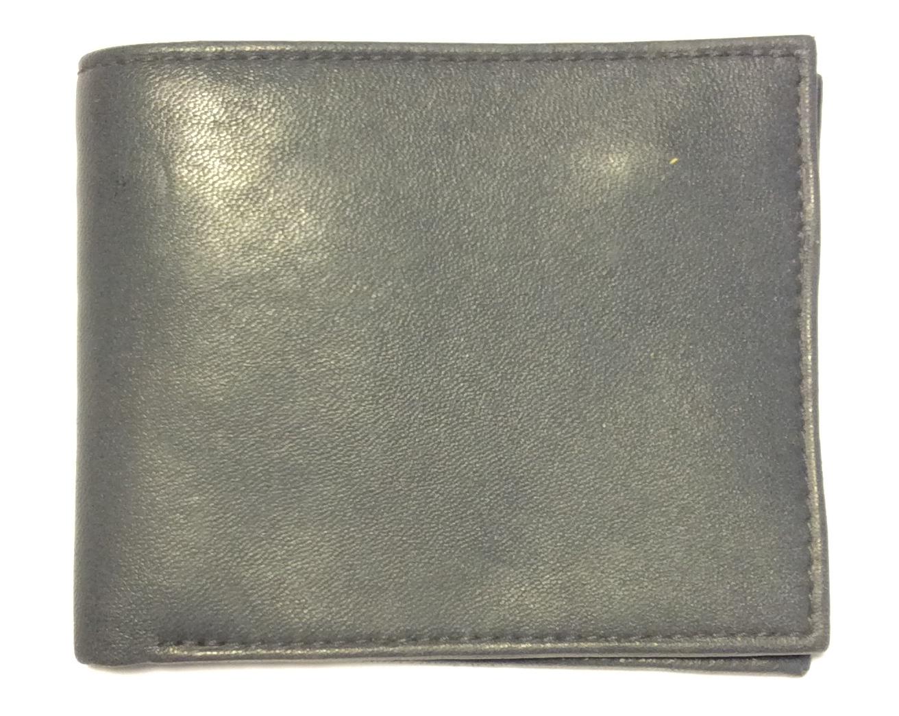 Buxton Grey leather bifold