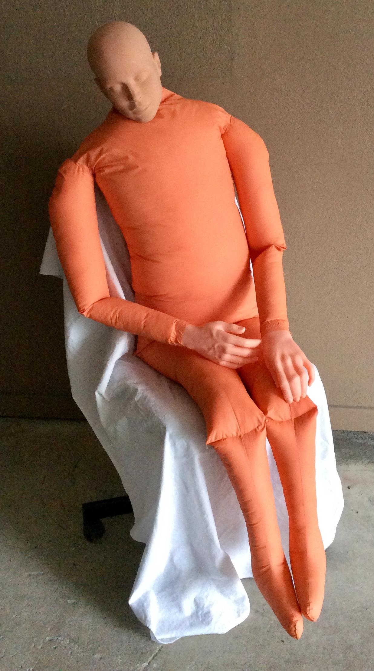 """5'5"""" Soft stuff dummy - orange body"""