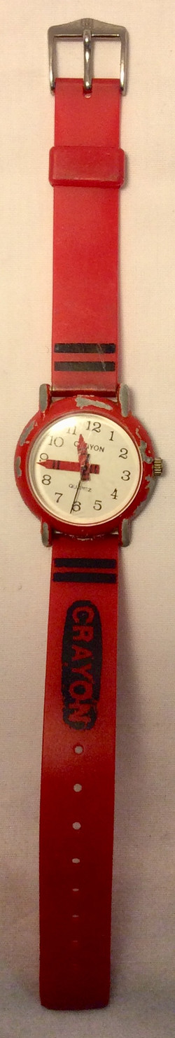 Red crayon watch
