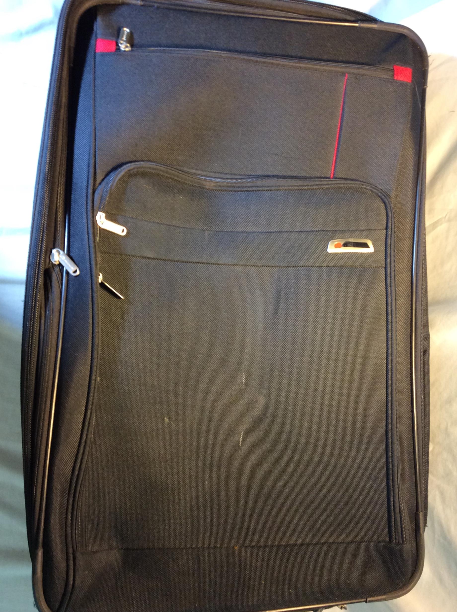 Large Black Wheeled Suitcase