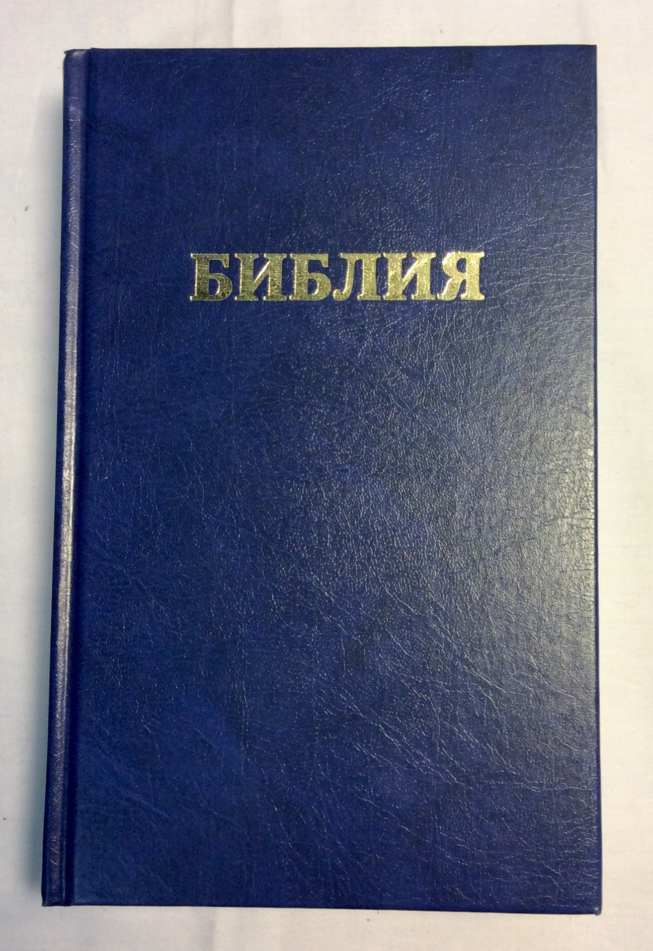 Blue Bible in Russian