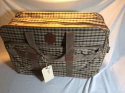 Sobranie Brown Checkered Duffle bag