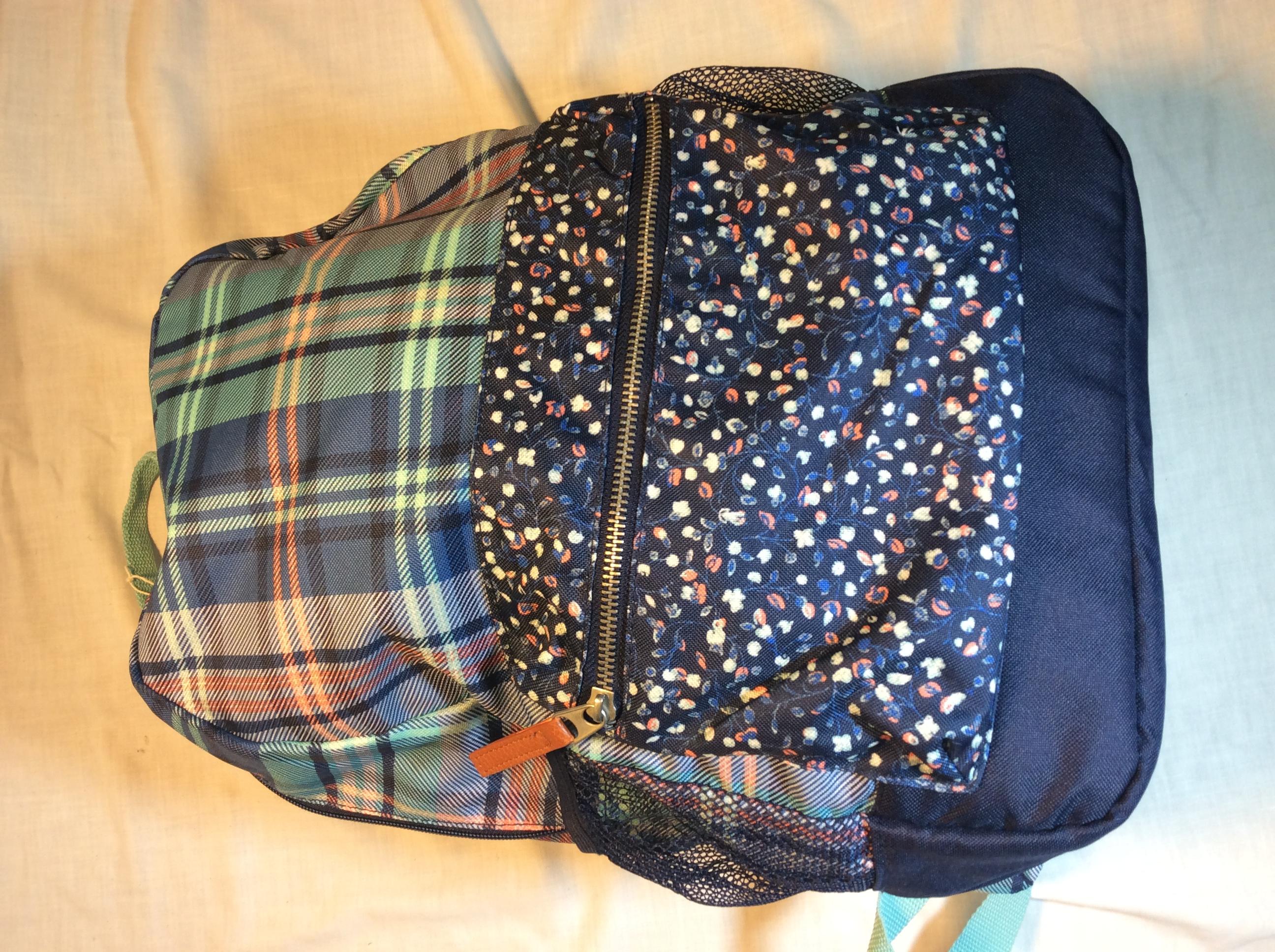 Blue Plaid School Bag