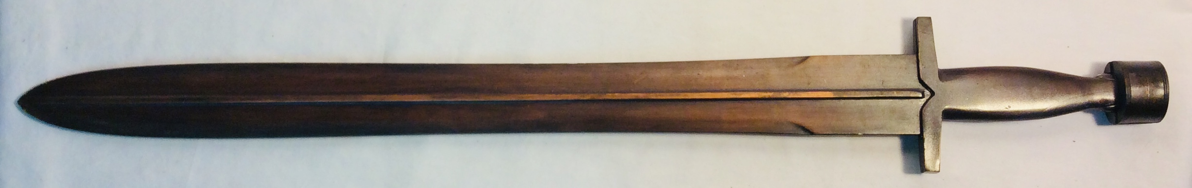 Medieval faux copper sword 2ft blade x2 rubber