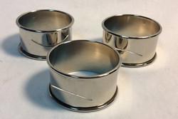 "Silver napkin rings 1.5"" diameter"