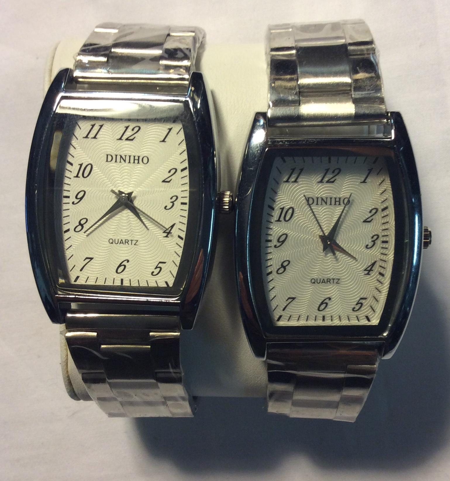 Diniho watch - Rectangular white