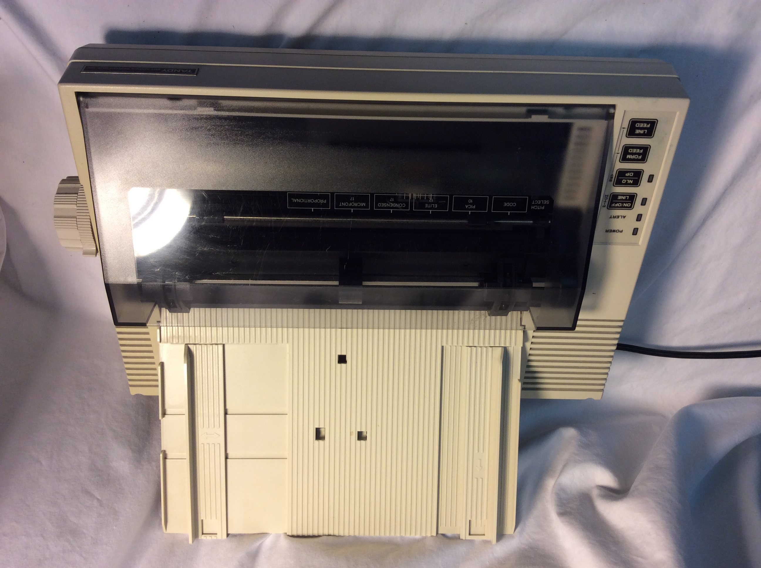 Tandy DMP 132 Dot matrix printer, cream coloured