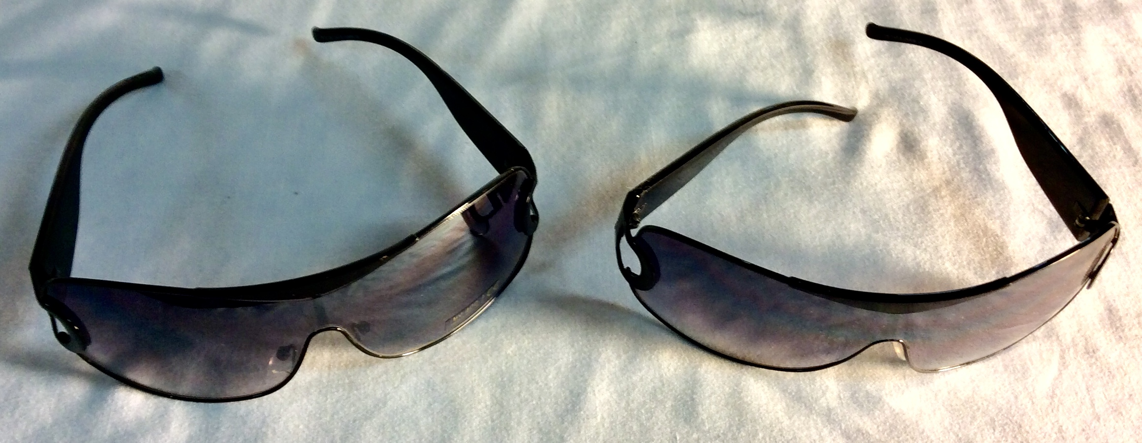 Black framed sunglasses