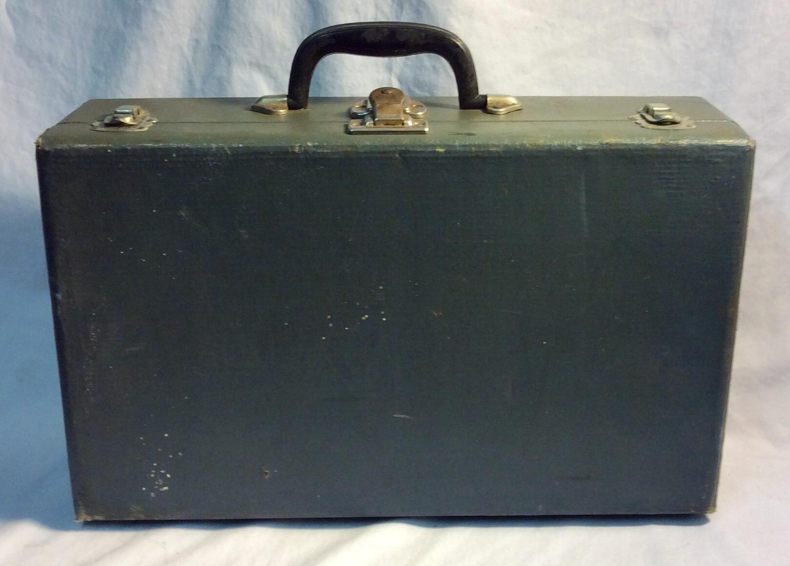 Vintage olive green briefcase
