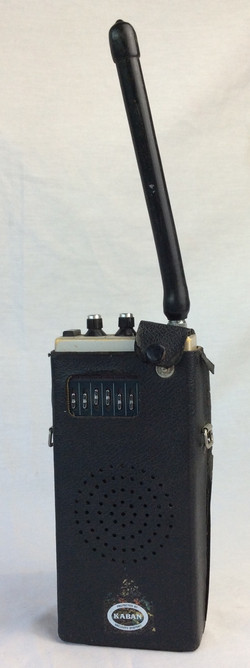 Kaban radio in leather case