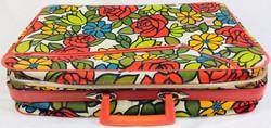 Retro floral fabric small suitcase
