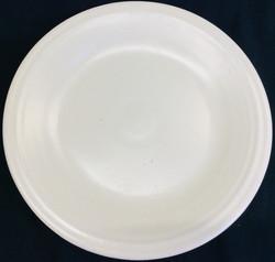 Breakaway plastic dinner plates (off white)