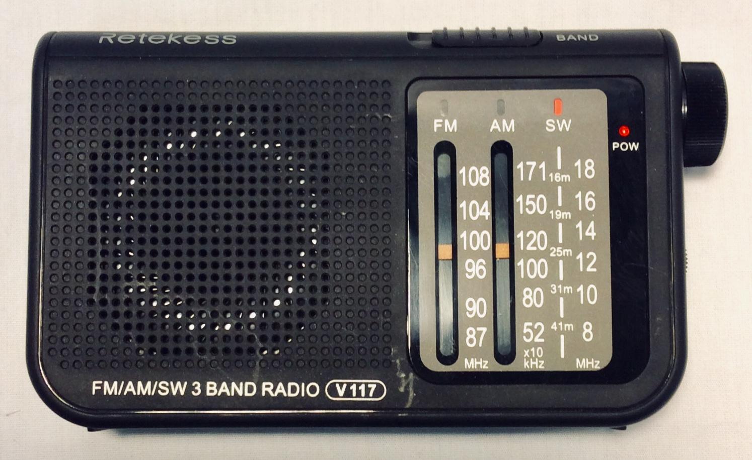 Small 3 Band portable radio