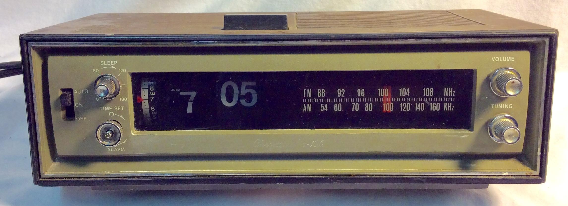 Rigged - vintage flip alarm clock