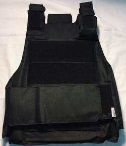 Pellor Black nylon vest, armored