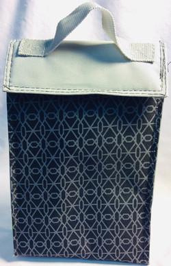 Thermal bag for food. Gray and black.