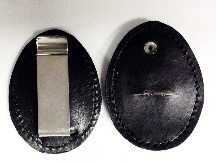 Leather Badge Belt Clips