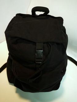 Black Cloth Knapsack