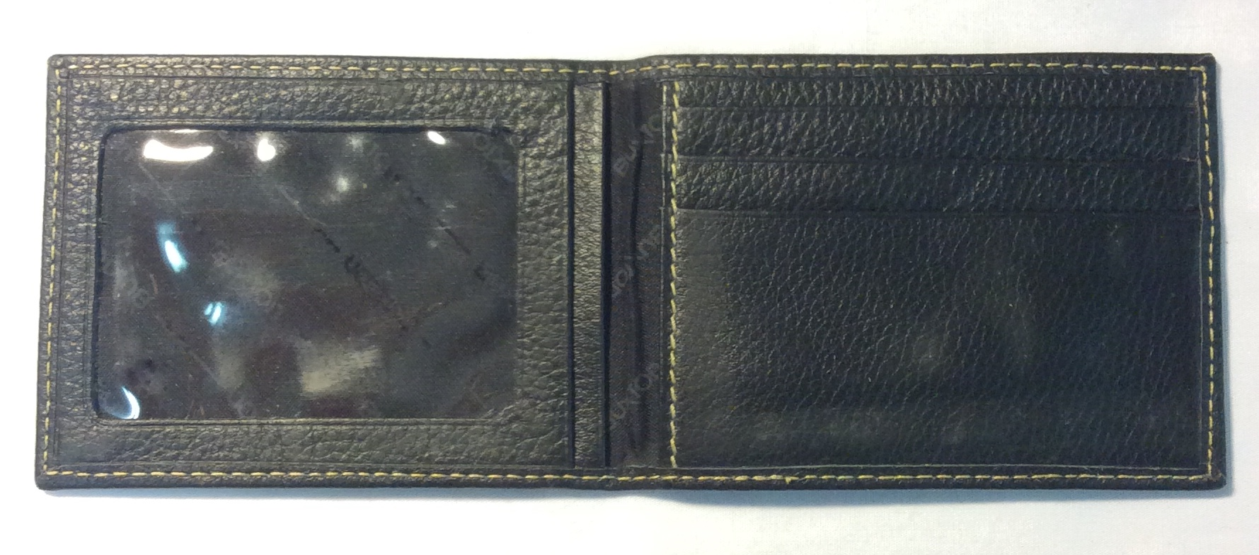 Buxton Black leather card holder