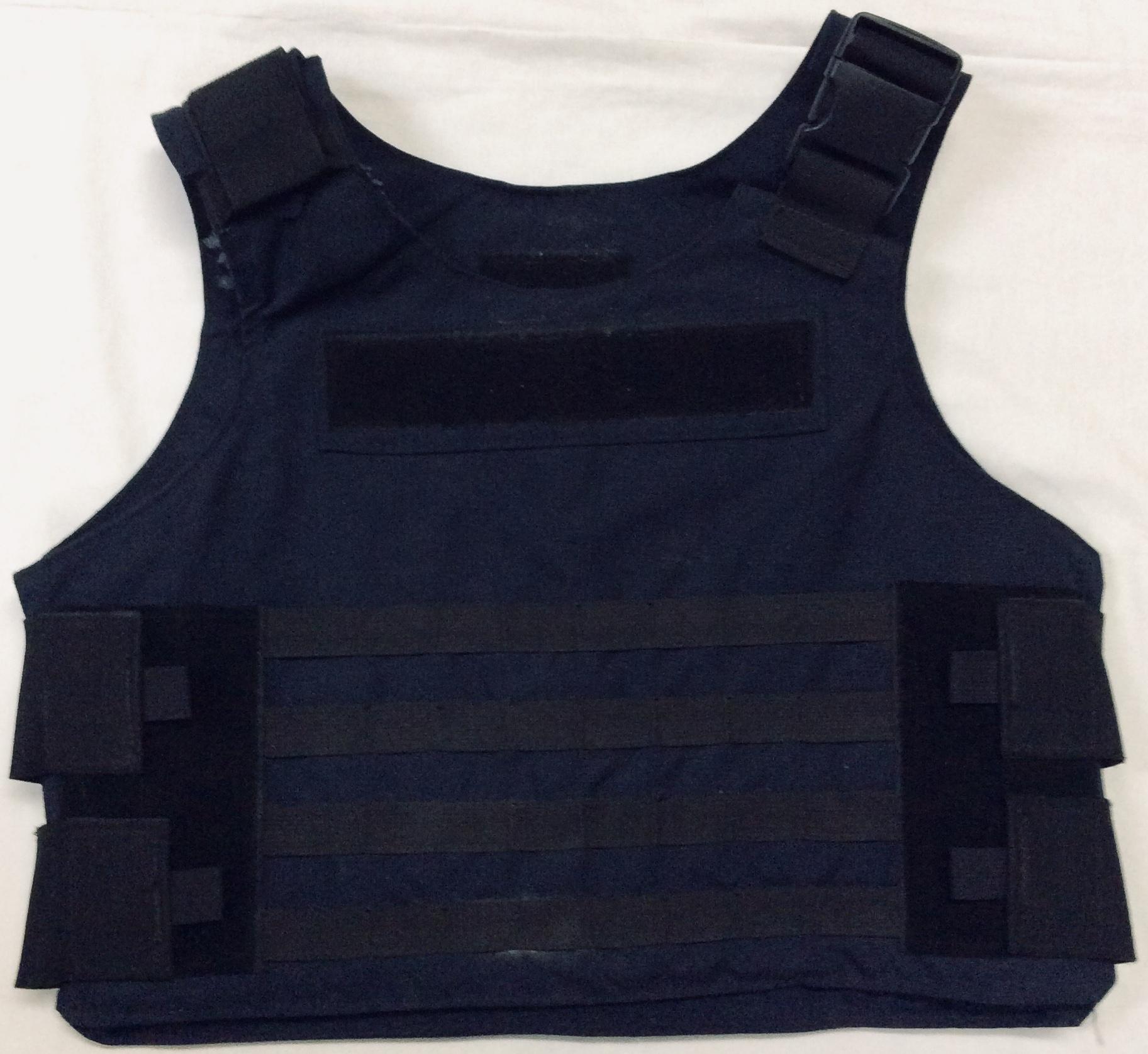 Navy blue kevlar vest with strechy