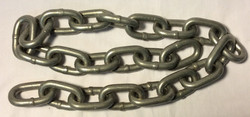 Thick silver metal chain; short