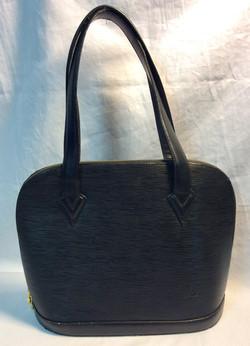 Black vinyl Louis Vuitton purse