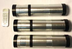 Silver metal tube with black metal