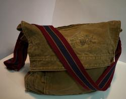 Brown cloth shoulder bag