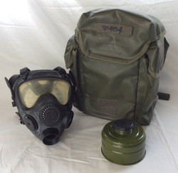 Full gas mask kit in waterproof bag with air container.