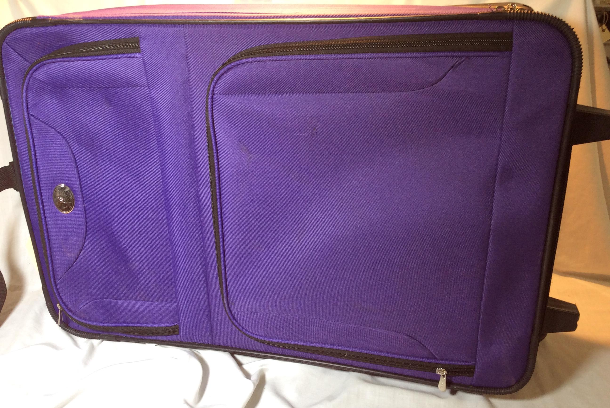 Purple Wheeled Suitcase