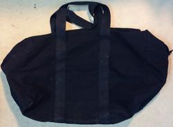 Military black canvas small duffle bag