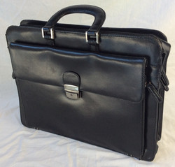 Black leather laptop/paperwork briefcase bag