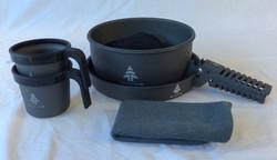 Woods portable camping plate and mug set.