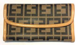 Textured vinyl dark brown & beige