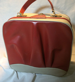 Small Vintage White and Red