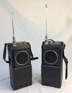 Beefy retro radio's with leather casing